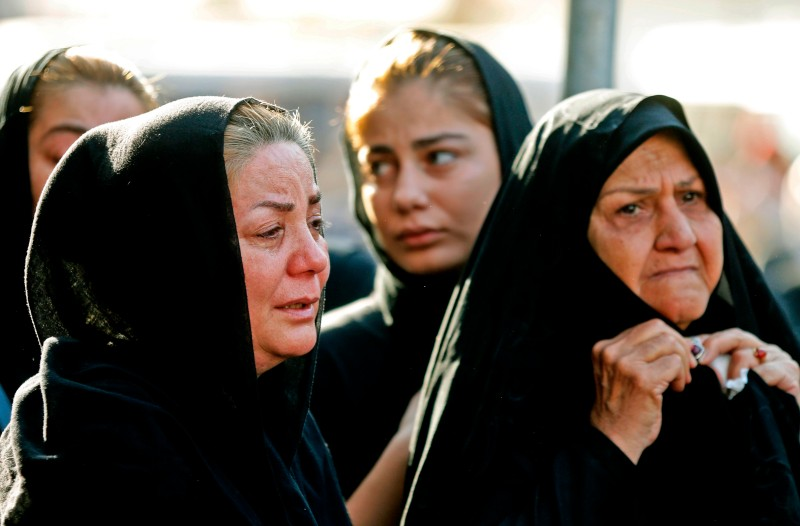Iranian women mourn during a public funeral in Ahvaz on Sept. 24. The ceremony was for those killed during an attack on a military parade over the weekend. (Atta Kenare/AFP/Getty Images)