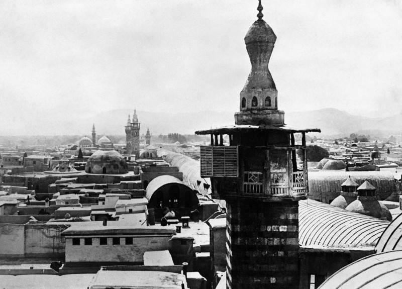 A mosque, in Damascus, in the 1930s. (STRINGER/AFP/Getty Images)