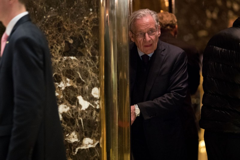 Journalist Bob Woodward arrives at Trump Tower in New York City on Jan. 3, 2017. (Drew Angerer/Getty Images)