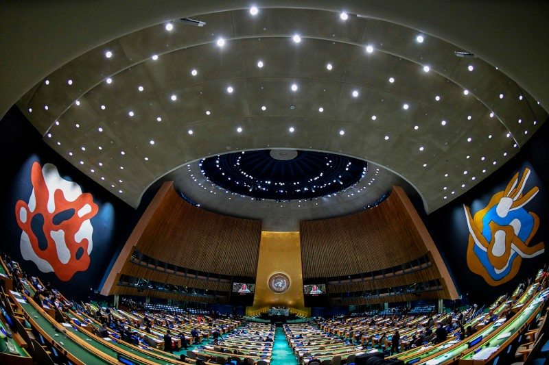 Bangladesh Prime Minister Sheikh Hasina addresses the 72nd session of the United Nations General Assembly in New York on Sept. 21, 2017. (Jewel Samad/AFP/Getty Images)