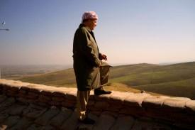 Massoud Barzani, a leader of the Kurdish Democratic Party, in Iraq's Nineveh province in Nov. 2015. (Reza/Getty Images)