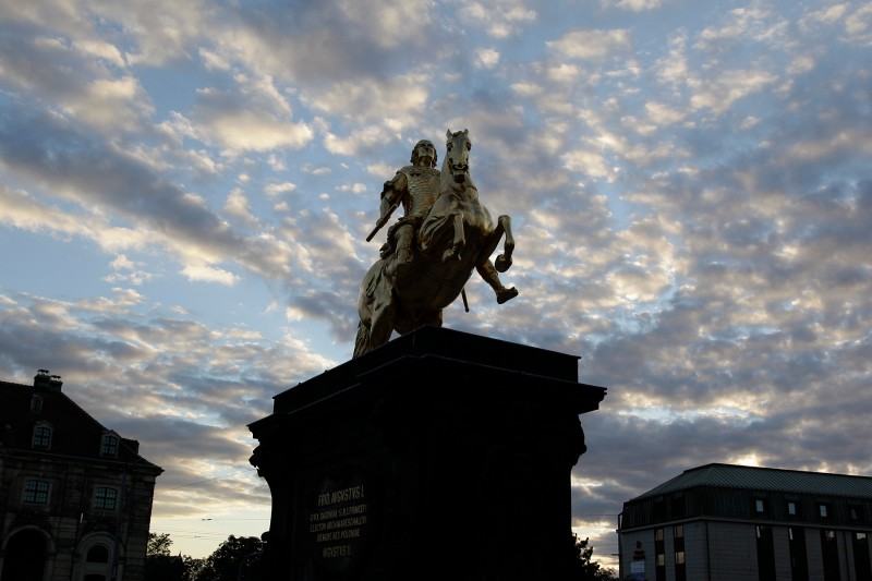 A statue of King Augustus the Strong in Dresden, Germany. (Via Getty Images)