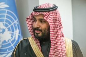 Crown Prince of Saudi Arabia Mohammed bin Salman at the U.N. headquarters in New York on March 23. (Albin Lohr-Jones/Pacific Press/LightRocket/Getty Images)