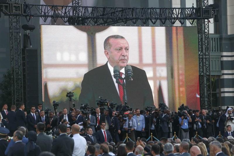 Turkish President Recep Tayyip Erdogan in Ankara, Turkey, on July 9. (Stringer/Getty Images)