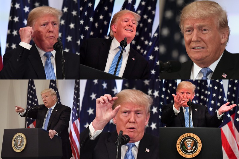 U.S. President Donald Trump speaks during a press conference on Sept. 26 on the sidelines of the U.N. General Assembly in New York. (Nicholas Kamm /AFP/Getty Images photos)