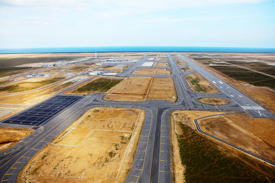 Tunisia, Construction of Enfidha International Airport. Photo: ONUR
