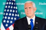 U.S. Vice President Mike Pence addresses the Hudson Institute in Washington on the administration's policy toward China on Oct. 4. (Jim Watson/AFP/Getty Images)