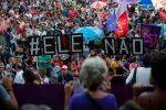 Demonstrators take part in a protest against Brazilian right-wing presidential candidate Jair Bolsonaro in Rio de Janeiro on Oct. 20. (Fernando Souza/AFP/Getty Images)