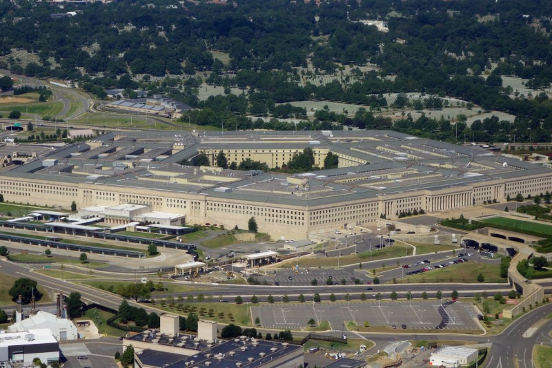 The Pentagon is seen from the air over Washington, D.C., on Aug. 25, 2013. (Saul Loeb/AFP/Getty Images)