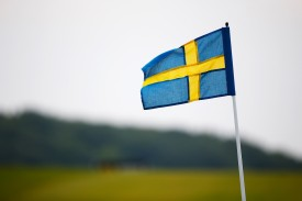 A Swedish flag is seen in Malmo on June 6, 2015. (Harry Engels/Getty Images)
