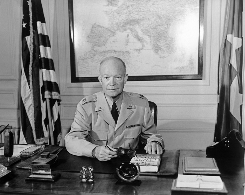 Gen. Dwight D. Eisenhower at NATO's Paris headquarters in 1951. (AFP/Getty Images)