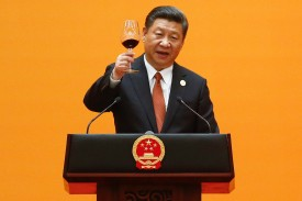 Chinese President Xi Jinping speaks in Beijing on May 14, 2017. (Damir Sagolj/AFP/Getty Images)