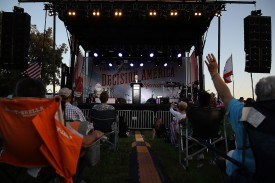 Rev. Franklin Graham speaks during his 'Decision America' California tour at the Stanislaus County Fairgrounds on May 29, 2018 in Turlock, California.  (Photo by Justin Sullivan/Getty Images)