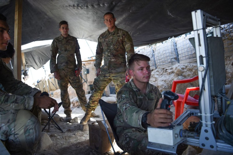 U.S. soldiers in Afghanistan's Nangarhar Province on July 7. (Wakil Kohsar/AFP/Getty Images)
