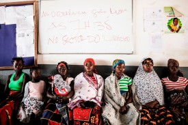 Mozambican women and expecting mothers wait to receive medical care at the Murrupelane maternity ward in Nacala, Mozambique, on July 5. (Gianluigi Guercia/ AFP/Getty Images)