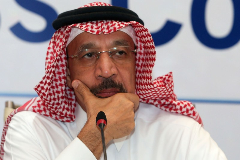 Saudi Energy Minister Khalid al-Falih promised Monday to maintain oil supplies, after Saudi Arabia had earlier threatened to drive crude prices higher. (Mohammed Mahjoub/AFP/Getty Images)