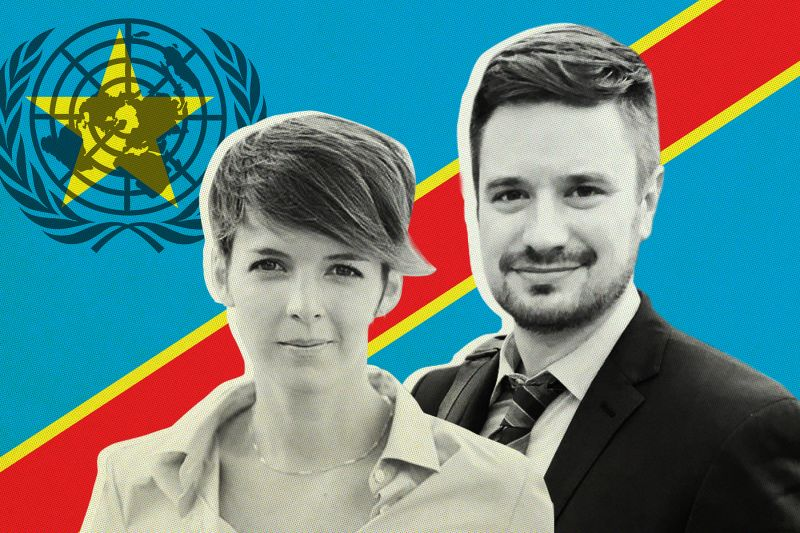 Zaida Catalán and Michael Sharp were United Nations experts working in the Democratic Republic of the Congo. (Family photos/Foreign Policy illustration)