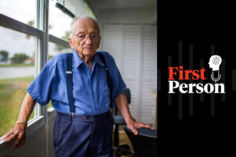 Benjamin Ferencz, a former chief prosecutor at the Nuremberg trials, at his home in Delray Beach, Florida, on March 10, 2016. (Brooks Kraft/Getty Images)