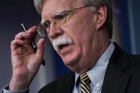 U.S. National Security Advisor John Bolton in the White House in Washington on Oct. 3.