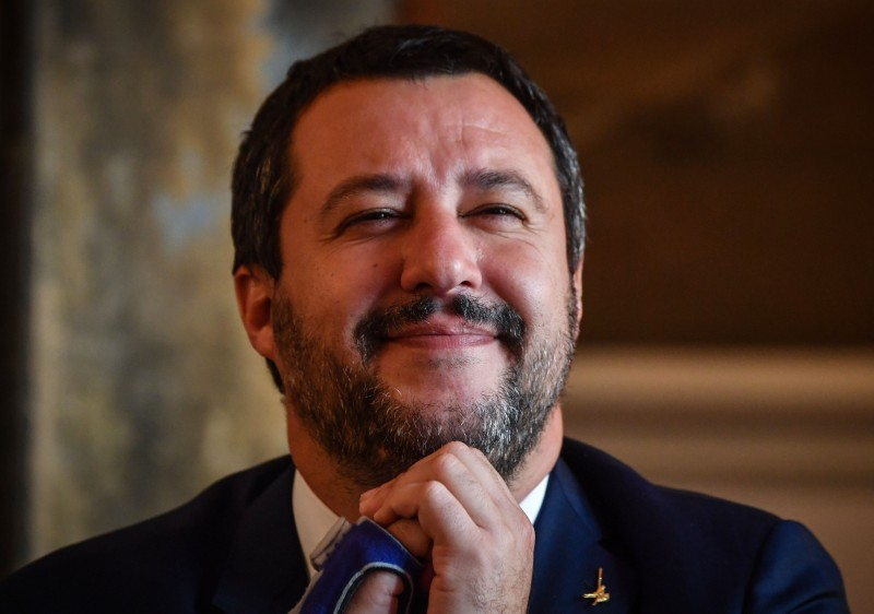 talian Interior Minister Matteo Salvini attends a press conference at the Italian Embassy in Bucharest, Romania, on Oct. 23. (Daniel Mihailescu/AFP/Getty Images)