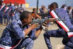 Yemeni fighters supporting forces loyal to Yemen's Saudi-backed government take part in a graduation ceremony in Taez, Yemen, on Oct. 27. (Ahman al-Basha/AFP/Getty Images)