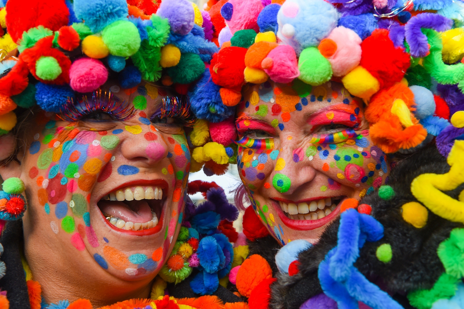 Revelers celebrate the start of the Carnival season in Duesseldorf, western Germany, on Nov. 11. PATRIK STOLLARZ/AFP/Getty Images