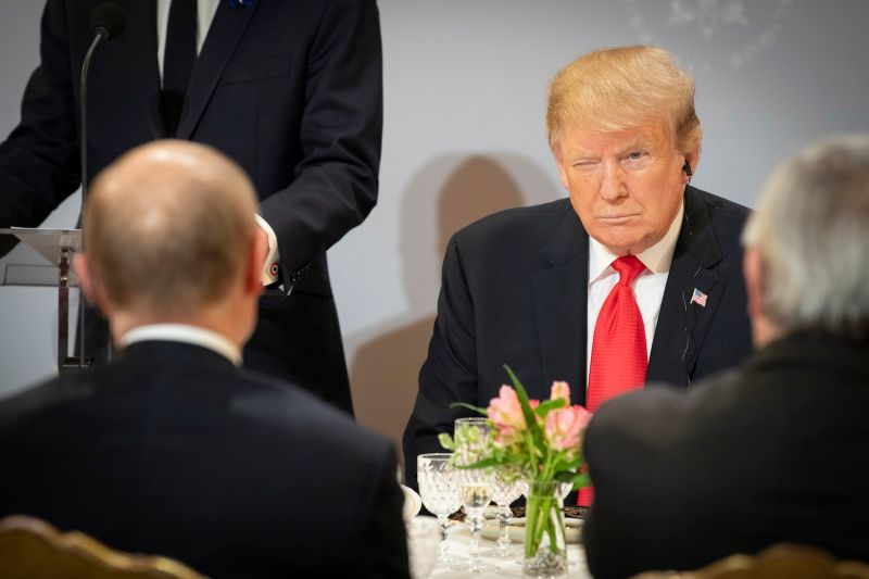 U.S. President Donald Trump and Russian President Vladimir Putin in Paris on Nov. 11. (Guido Bergmann/Bundesregierug/Getty Images)