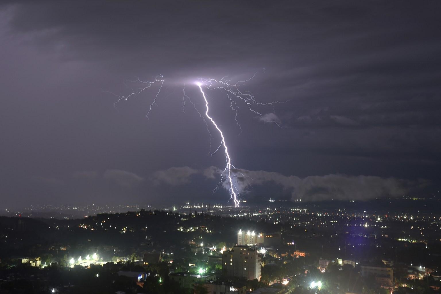 Lightning strikes over Port-au-Prince, Haiti, during a storm on Nov. 14. HECTOR RETAMAL/AFP/Getty Images