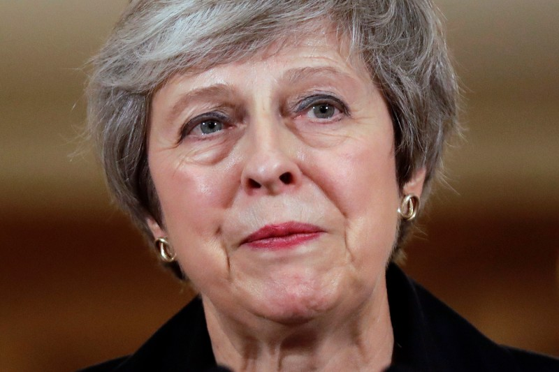 British Prime Minister Theresa May at a press conference at 10 Downing Street in London on Nov. 15. (AP Photo/Matt Dunham, Pool)
