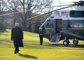 U.S. President Donald Trump walks to Marine One prior to departing from the South Lawn of the White House in Washington, D.C., on Dec. 7. (Saul Loeb/AFP/Getty Images)
