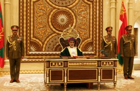 Omani Leader Sultan Qaboos bin Said addresses the annual session of the Council of Oman in Muscat on Nov. 12, 2012. (Mohammed Mahjoud/AFP/Getty Images)