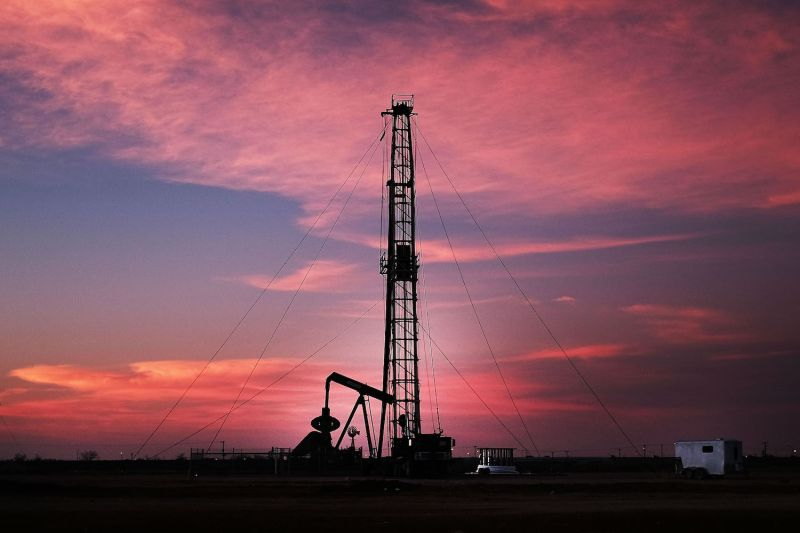 The shale oil revolution has brought boom, and sometimes bust, to places like Midland, Texas, shown here on Feb. 5, 2015. (Spencer Platt/Getty Images)
