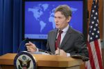 Then-U.S. Assistant Secretary of State for Democracy, Human Rights, and Labor Tom Malinowski speaks at the State Department in Washington on April 13, 2016. (Chip Somodevilla/Getty Images)
