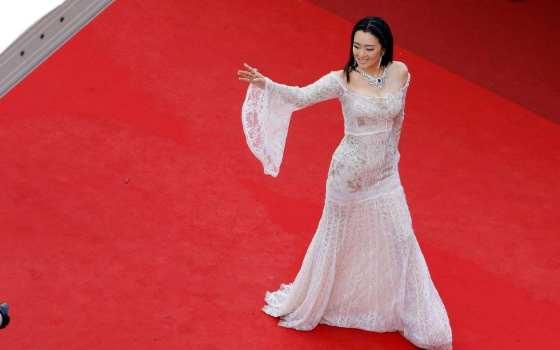 Chinese actress Gong Li attends the opening night gala during the 69th annual Cannes Film Festival at the Palais des Festivals on May 11, 2016 in Cannes, France. (Photo by Pool/Getty Images)