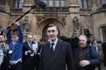 Conservative member of Parliament Jacob Rees-Mogg speaks to the media after submitting a letter of no confidence in Prime Minister Theresa May  on November 15, 2018 in London.