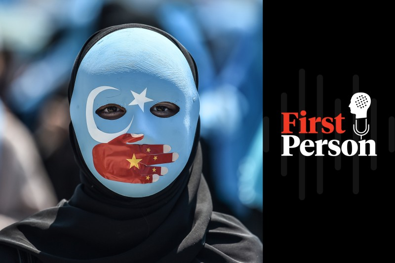 A demonstrator attends a protest to denounce China's treatment of ethnic Uighur Muslims in front of the Chinese consulate in Istanbul on July 5. (Ozan Kose/AFP/Getty Images)