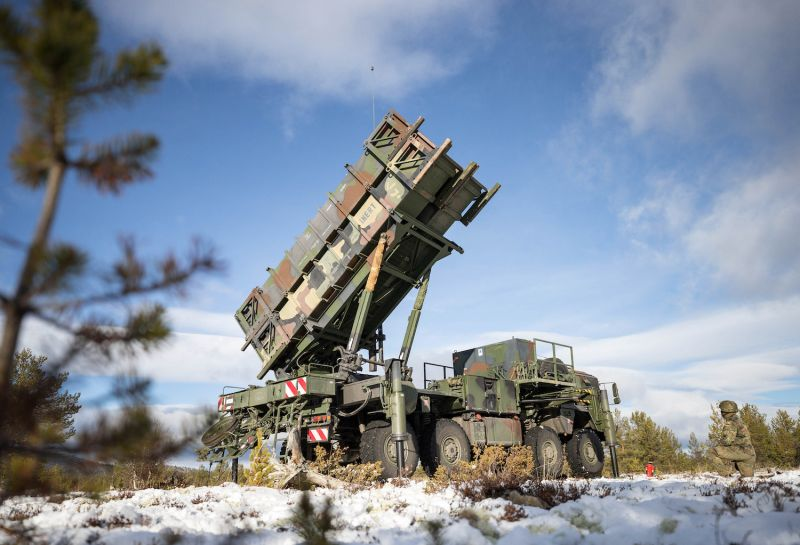 Norwegian and German military personnel train with a Patriot surface-to-air missile system in Norway on Oct. 24. (Kevin Schrief/Department of Defense Photo)