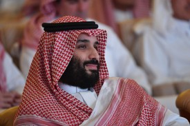 Saudi Crown Prince Mohammed bin Salman attends the Future Investment Initiative conference in the Riyadh on Oct. 23. (Fayez Nureldine/AFP/Getty Images)