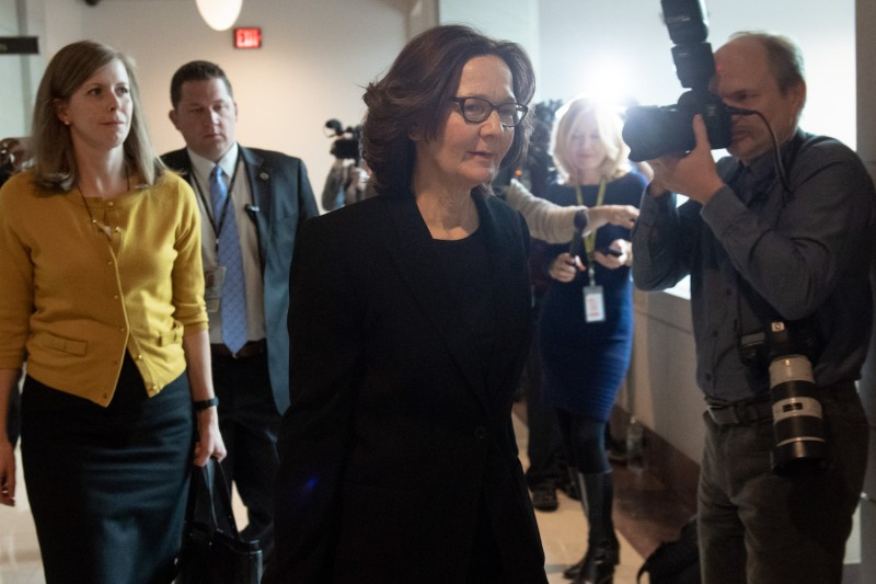 CIA Director Gina Haspel arrives to brief legislators on the killing of journalist Jamal Khashoggi on Capitol Hill on Dec. 12. (Saul Loeb/AFP/Getty Images)