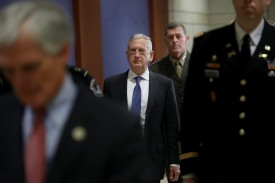 U.S. Secretary of Defense James Mattis arrives for a closed intelligence briefing at the U.S. Capitol on December 13, 2018 in Washington, DC. (Win McNamee/Getty Images)