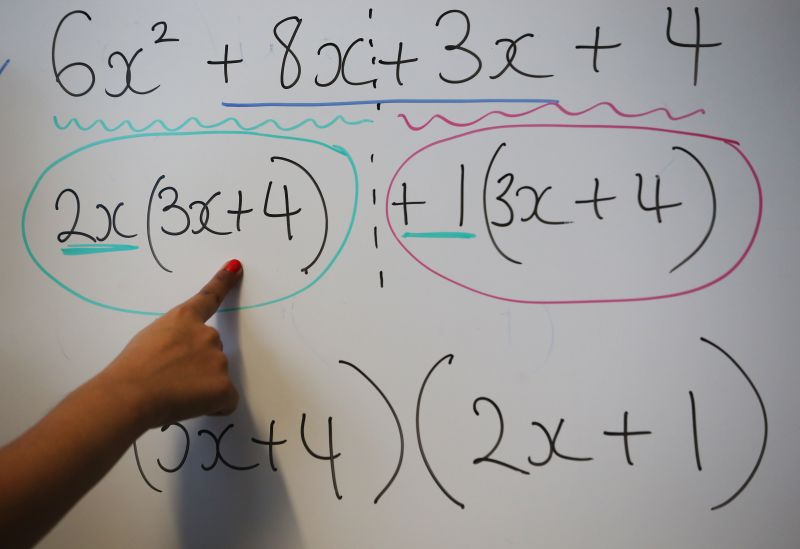 An equation written at a secondary school on Dec. 1, 2014 in London. (Peter Macdiarmid/Getty Images)