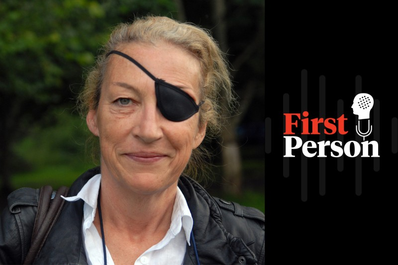 War correspondent Marie Colvin in Peeblesshire, Scotland, on Aug. 20, 2011. (Writer Pictures via AP Images)