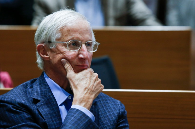 NEW HAVEN, CT - OCTOBER 08: Yale Professor William Nordhaus attends a press conference after winning the 2018 Nobel Prize in Economic Sciences at Yale University on October 8, 2018 in New Haven, Connecticut. Professor Nordhaus' research has been focused on the economics of climate change, economic growth, and natural resources. (Photo by Eduardo Munoz Alvarez/Getty Images)