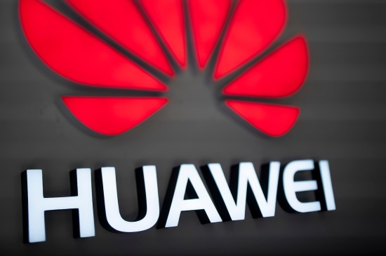 The Huawei logo is displayed at a store in Beijing on Dec. 6. (Fred Dufour/AFP/Getty Images)