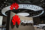 The logo of Chinese electronics company Huawei on Sept. 2, 2015 in Berlin. (John Macdougal/AFP/Getty Images)