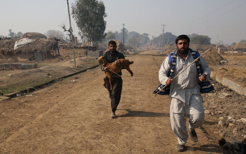 629d6f08d8 Indian villagers run following shelling across the India-Pakistan border in  Jhora village on January