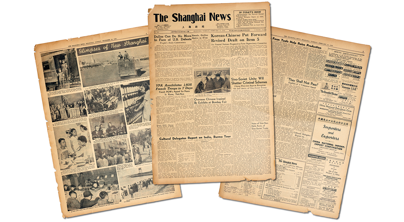 The Shanghai News ran from 1950 to 1952. (Jason Hornick for Foreign Policy)
