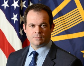 Eric Chewning, deputy assistant secretary of defense, Office of the Undersecretary of Defense (Aquisitions, Technology and Logistics), poses for his official portrait in the Army portrait studio at the Pentagon in Arlington, Virginia, on Feb. 2, 2018.  (U.S. Army photo by Sgt. Alicia Brand)