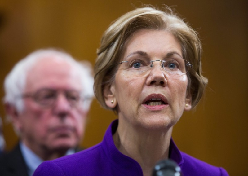 Senator Elizabeth Warren attends a news conference to discuss immediate humanitarian needs in Puerto Rico and the U.S. Virgin Islands on Nov. 28, 2017 in Washington, DC. (Tasos Katopodis/Getty Images)