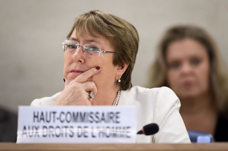 U.N. High Commissioner for Human Rights Michelle Bachelet attends the opening day of the 39th session of the U.N. Human Rights Council in Geneva on Sept. 10, 2018. (Fabrice Coffrini/AFP/Getty Images)